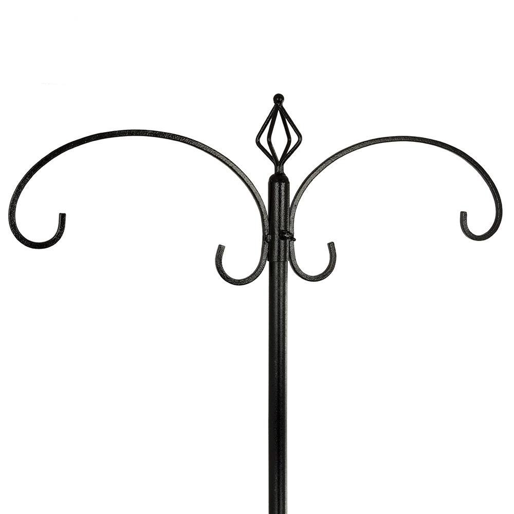 Voederpaalsysteem zwart (terrasvoet)
