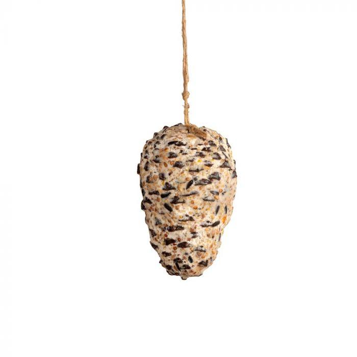 Dennenappel met pindakaas