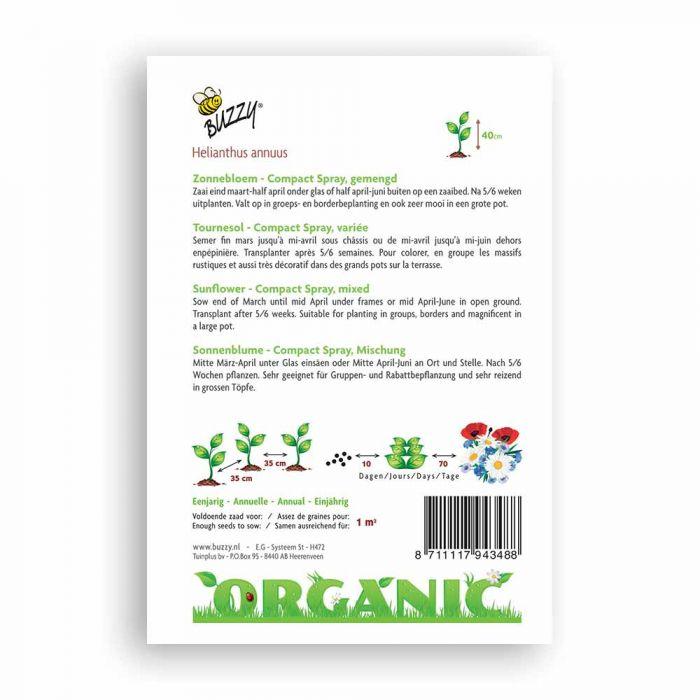 Buzzy® Organic Helianthus dwarf Spray mixed (BIO)