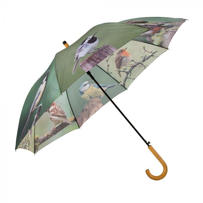 Paraplu met tuinvogels