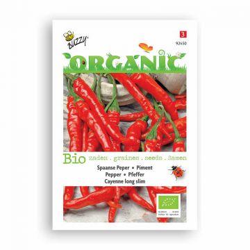 Buzzy® Organic Peper Cayenne lang en dun (BIO)