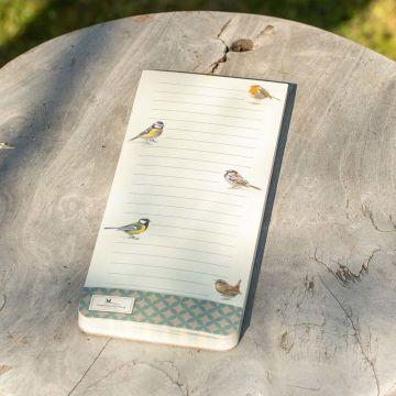 Notitie magneetblok Tuinvogels Elwin van der Kolk