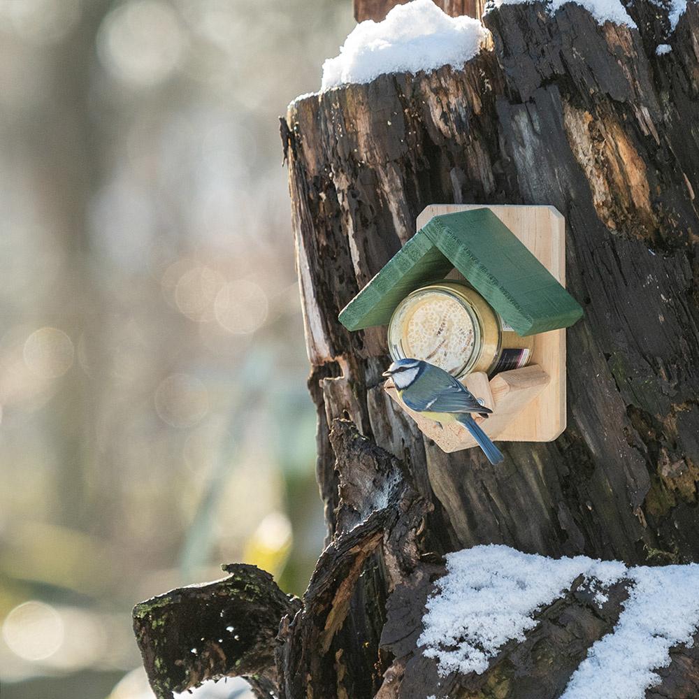 Wildbird Vogelpothouder Hout - Voersilo - per stuk