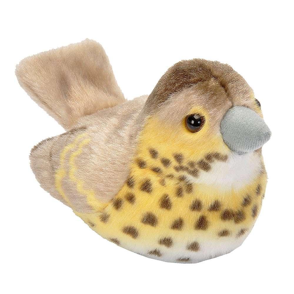 Vogelknuffel met geluid - Zanglijster