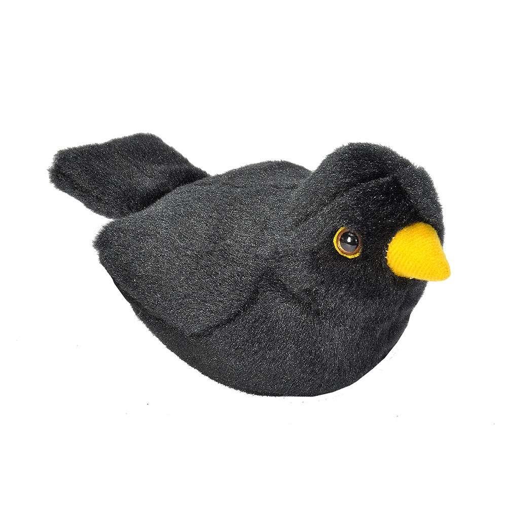 Vogelknuffel met geluid - Merel