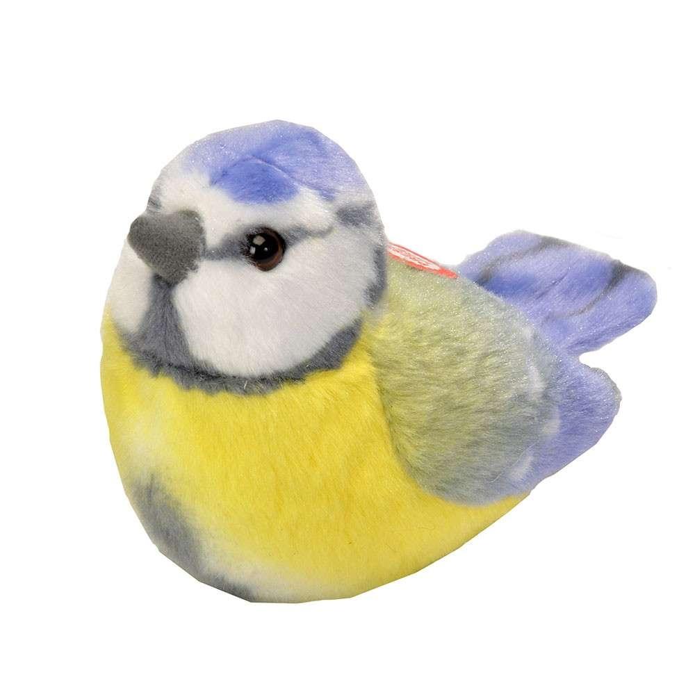 Vogelknuffel met geluid - Pimpelmees