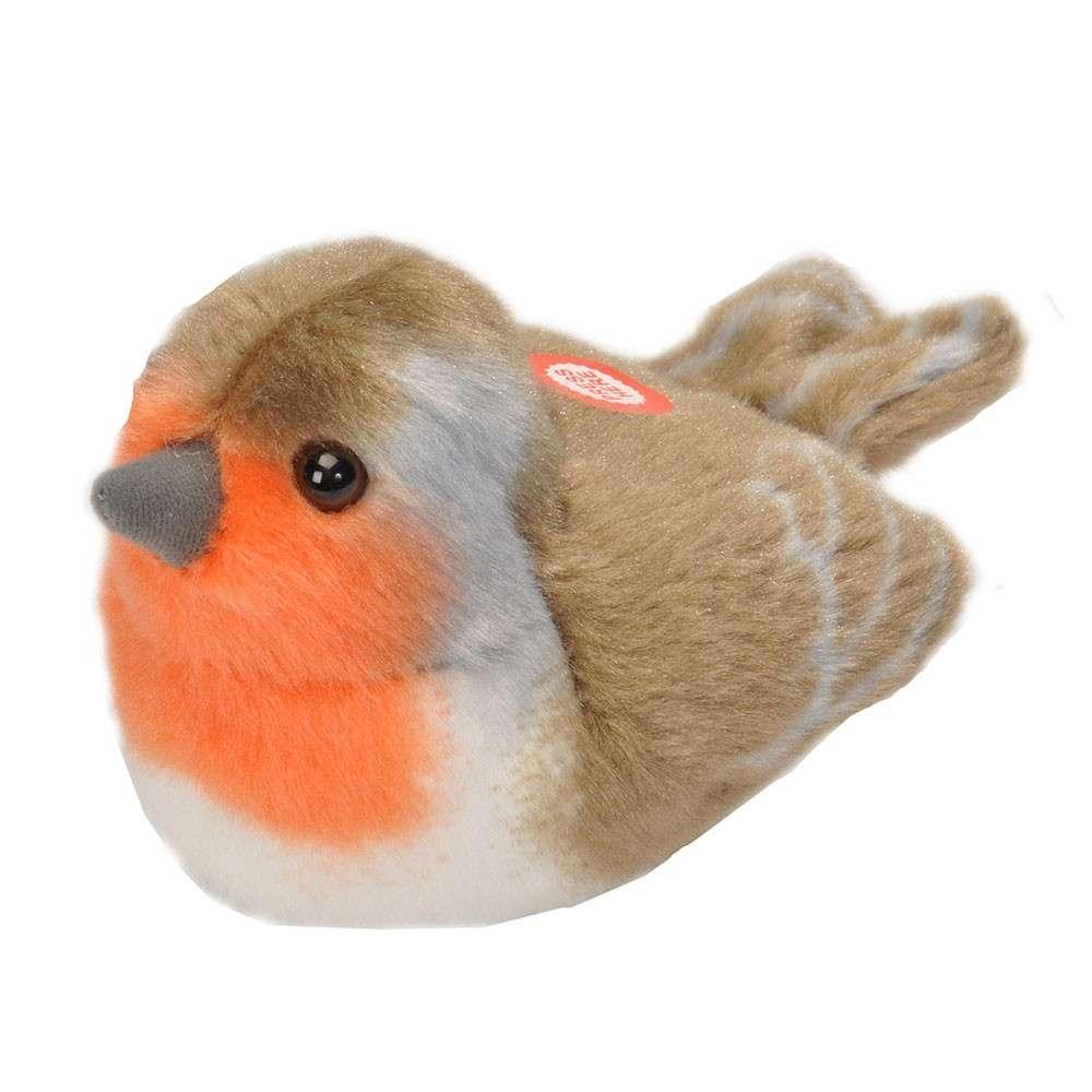 Vogelknuffel met geluid - Roodborst