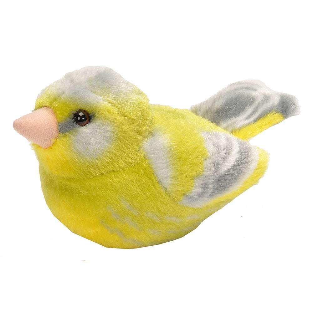 Vogelknuffel met geluid - Groenling