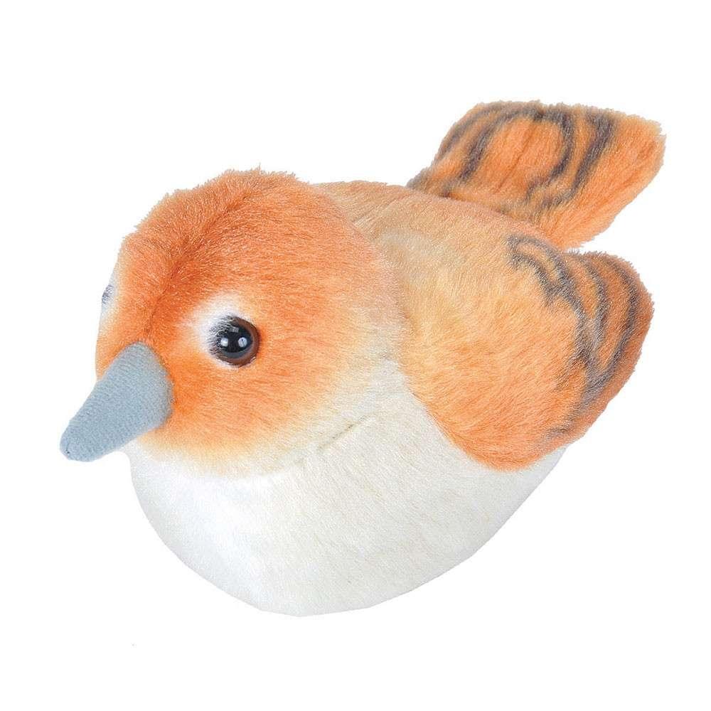 Vogelknuffel met geluid - Nachtegaal