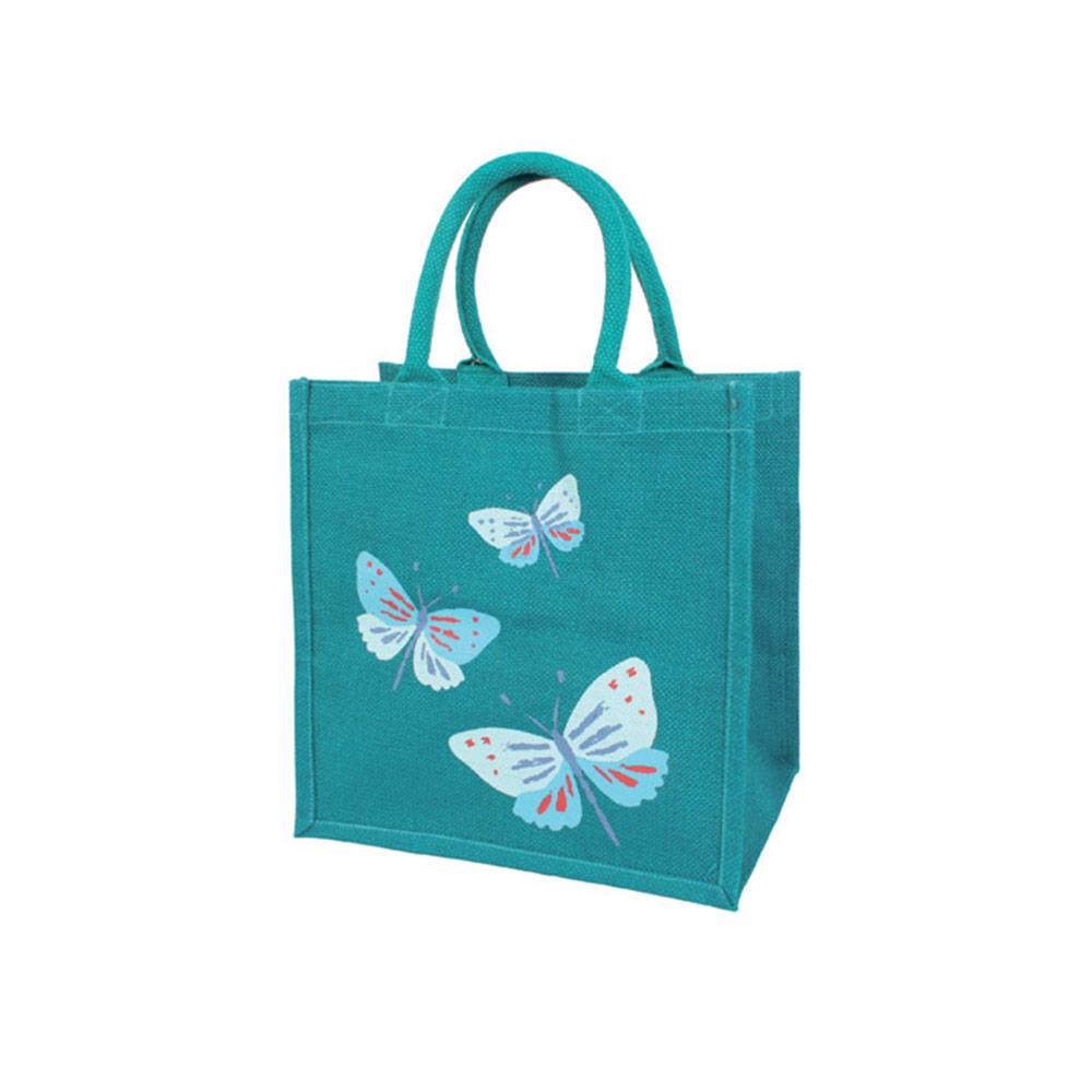 Juten boodschappentas vlinder