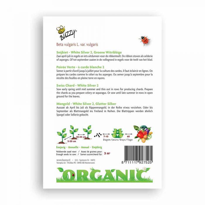 Buzzy® Organic Snijbiet White Silver 2 (BIO)