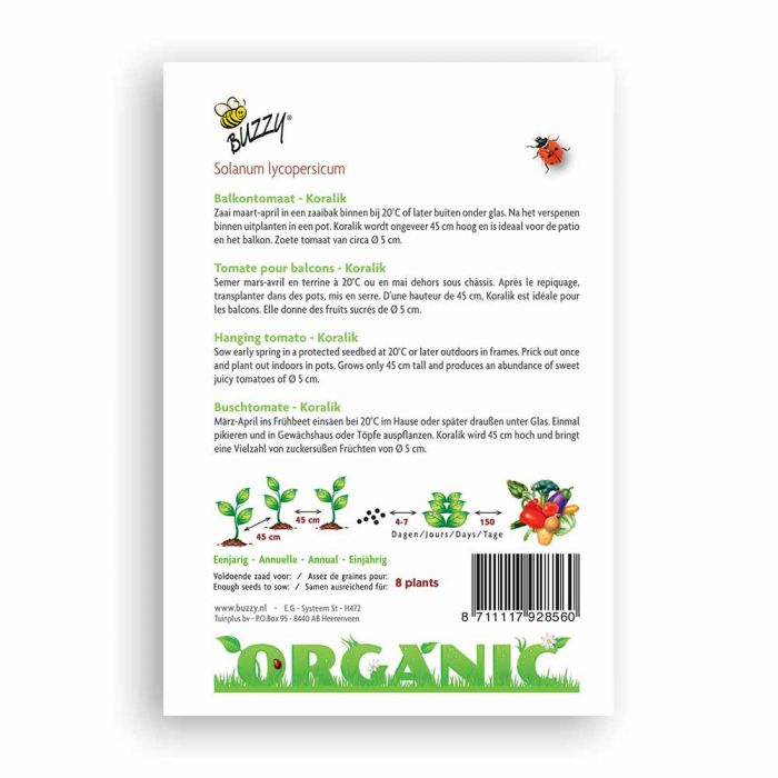 Buzzy® Organic Hangtomaat Koralik (BIO)