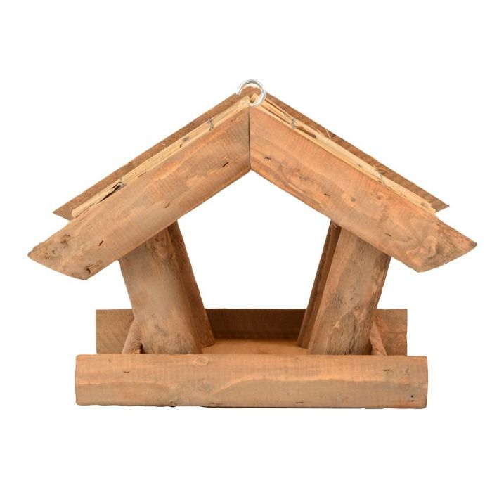 Voederhuis met rieten dak