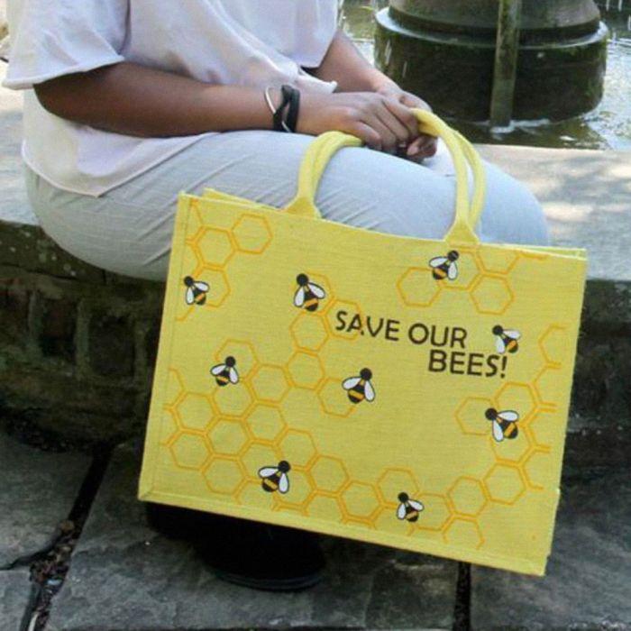 Juten boodschappentas 'Save our Bees'