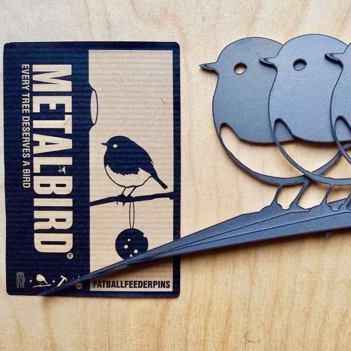 Metalbird Roodborst set van 3