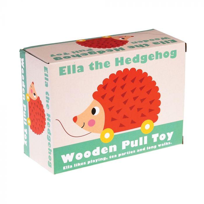 Ella de egel houten trekdier