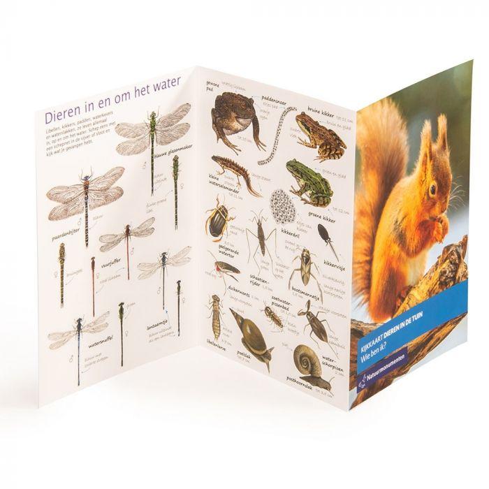 Natuurmonumenten kijkkaart Dieren in je tuin