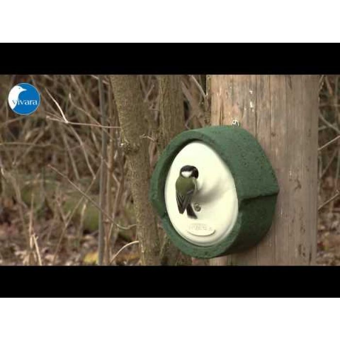 Nestkast Alicante WoodStone ovale invliegopening Rood