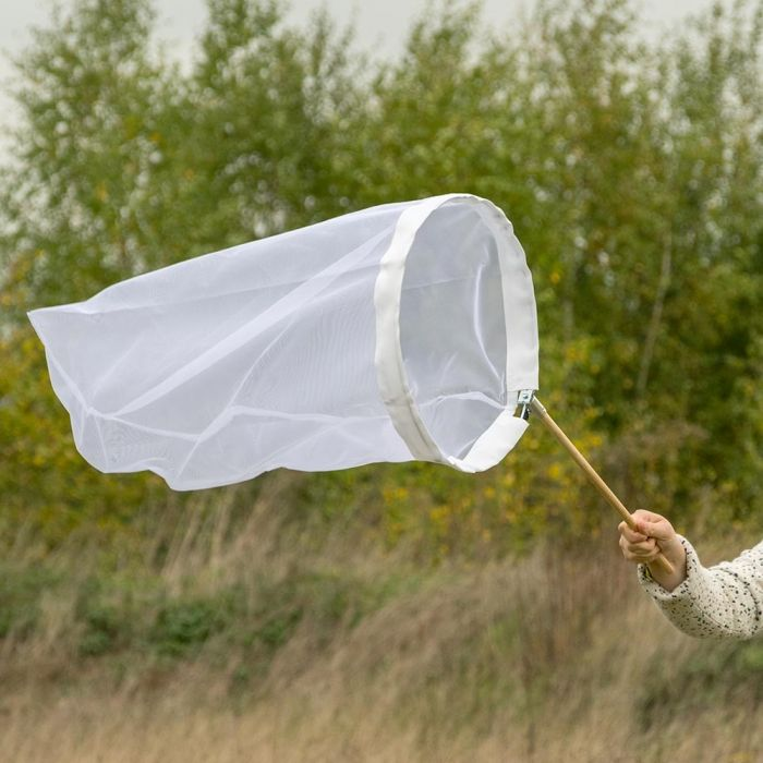 Vlindernet wit 40 cm - opklapbare beugel