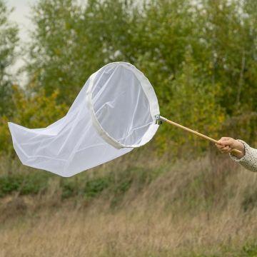 Vlindernet wit 50 cm - opklapbare beugel