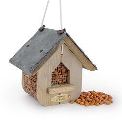Houten voederhuisjes vogelhuisjes